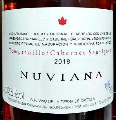 Отзыв о вине Nuviana Tempranillo Cabernet Sauvignon rosado 2018