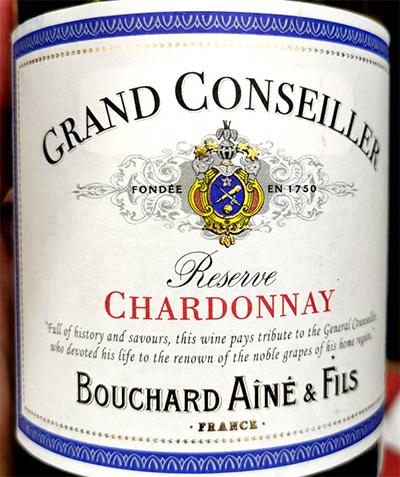 Отзыв о вине Bouchard Aine & Fils Grand Conseiller Chardonnay Reserve 2018