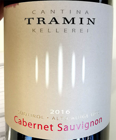Отзыв о вине Cantina Tramin Cabernet Sauvignon Alto Adige Sudtirol 2016