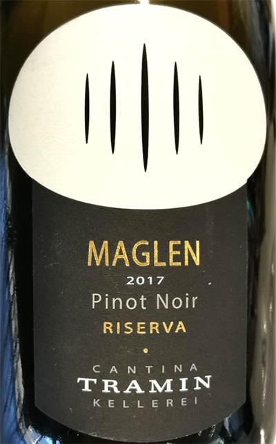 Отзыв о вине Cantina Tramin Maglen Pinot Noir Riserva Alto Adige Sudtirol 2017