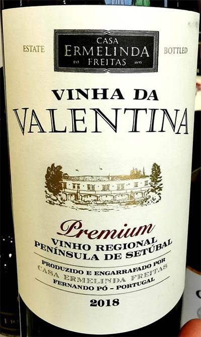 Отзыв о вине Casa Ermelinda Freitas Vinha da Valentina Premium Peninsula de Setubal 2018