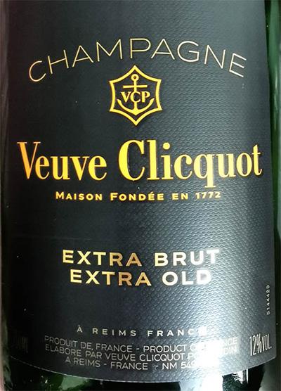 Отзыв о шампанском Champagne Veuve Clicquot Extra Brut Extra Old