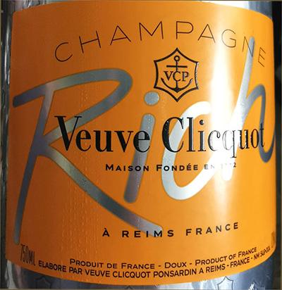 Отзыв о шампанском Champagne Veuve Clicquot Rich doux