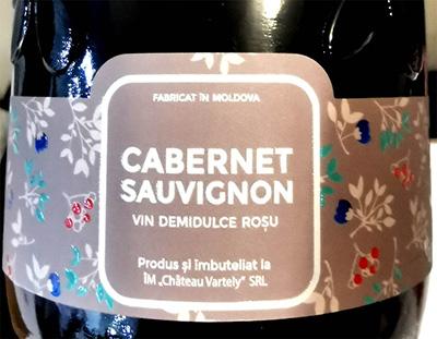 Отзыв о вине Chateau Vartely Cabernet Sauvignon demidulce rosu 2018