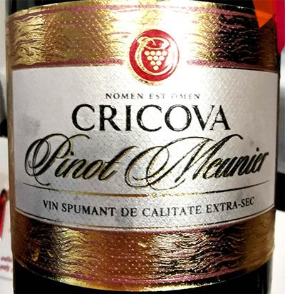 Отзыв об игристом вине Cricova Pinot Meunier spumant de Calitate extra-sec