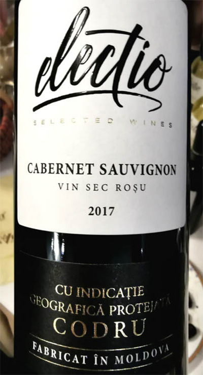Отзыв о вине Electio Cabernet Sauvignon Codru vin sec rosu 2017