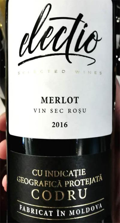 Отзыв о вине Electio Merlot Codru vin sec rosu 2017