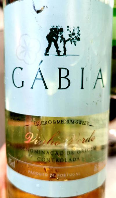 Отзыв о вине Gabia semisweet vinho branco Vinho Verde 2018