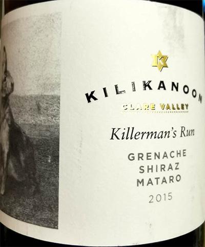 Отзыв о вине Kilikanoon Killerman's Run Grenache Shiraz Mataro 2015