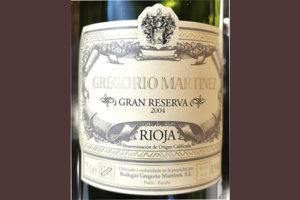 Отзыв о вине Bodega Grigorio Martinez Gran Reserva Rioja 2004