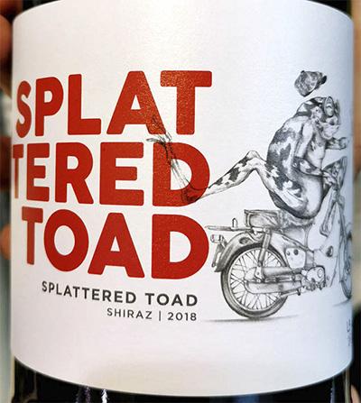 Отзыв о вине Cape Point Splattered Toad Shiraz 2018