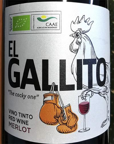 Отзыв о вине El Gallito Sal de Fiesta The Cocky One Merlot 2017