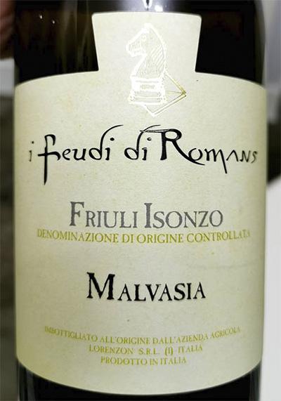 Отзыв о вине I Feudi di Romans Malvasia Friuli Isonzo 2017