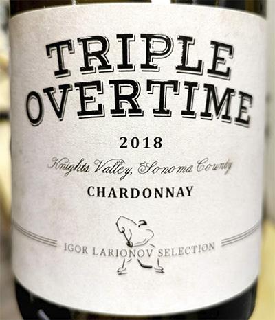Отзыв о вине Igor Larionov selection Triple Overtime Chardonnay Sonoma county 2018