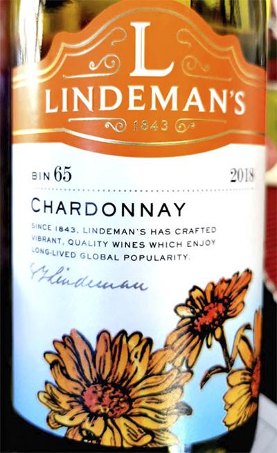 Отзыв о вине Lindeman's Chardonnay Bin 65 2018