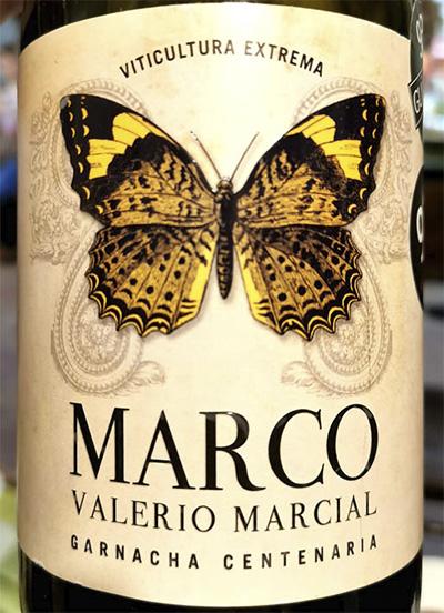 Отзыв о вине Marco Valerio Marcial Garnacha Centinaria 2015
