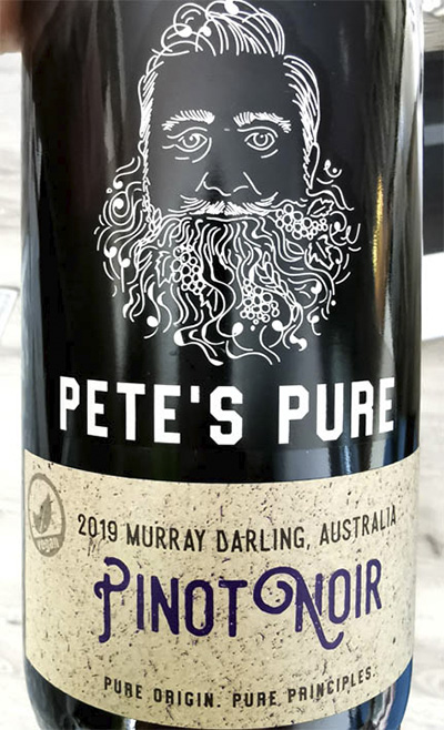 Отзыв о вине Murray Darling Pete's Pure Pinot Noir Australia 2019