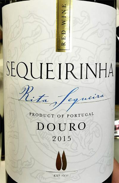 Отзыв о вине Rita Sequeira Sequeirinha vinho tinto Douro 2015