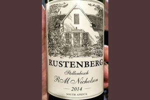 Отзыв о вине Rustenberg R M Nicholson Stellenbosch South Africa 2014