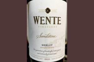 Отзыв о вине Wente Vineyards Sandstone Merlot San Francisco 2015