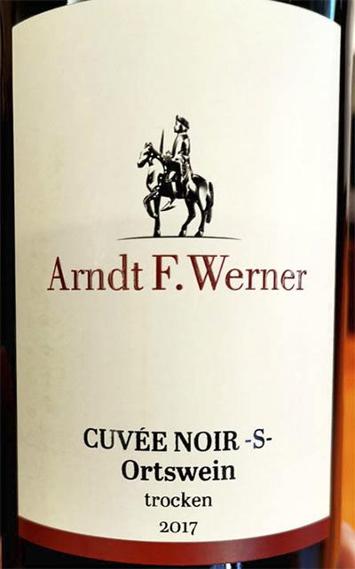 Arndt F.Werner Cuvee Noir -S- Ortswein trocken 2017 красное вино отзыв