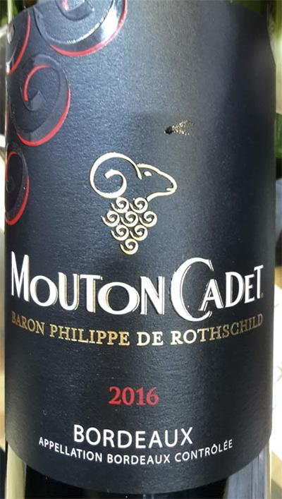 Отзыв о вине Baron Philippe de Rotschild Mouton Cadet Bordeaux rouge 2016