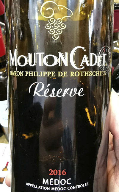 Отзыв о вине Baron Philippe de Rotschild Mouton Cadet Reserve Medoc rouge 2016