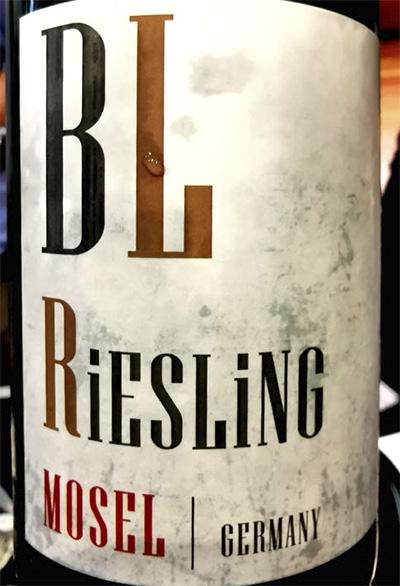 Bollig-Lehnert BL Riesling Mosel Germany 2018 белое вино отзыв