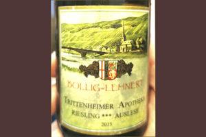 Bollig-Lehnert Trittenheimer Apotheke Riesling *** Auslese 2015 белое вино отзыв