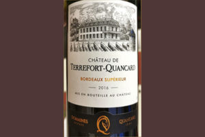 Chateau de Terrefort-Quancard Bordeaux superieur 2016 красное вино отзыв