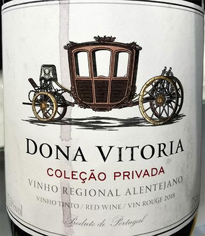 Отзыв о вине Dona Vitoria Colecao Privada Tinto Alentejano 2018