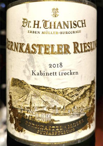 Dr.H.Thanisch Bernkasteler Riesling Kabinett trocken 2018 белое вино отзыв