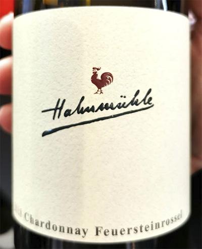 Hahnmuhle Chardonnay trocken Oberndorfer Feuersteinrossel Nahe 2018 белое вино отзыв