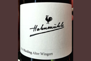 Hahnmuhle Riesling Alter Wingert trocken 2018 белое вино отзыв