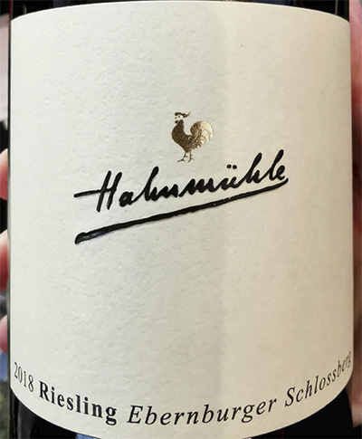 Hahnmuhle Riesling Ebernburger Schlossberg trocken Nahe 2018 белое вино отзыв