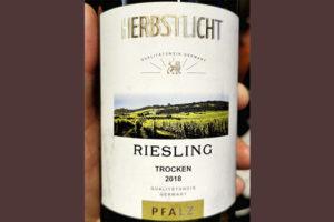 Herbstlicht Riesling trocken Pfalz 2018 белое вино отзыв