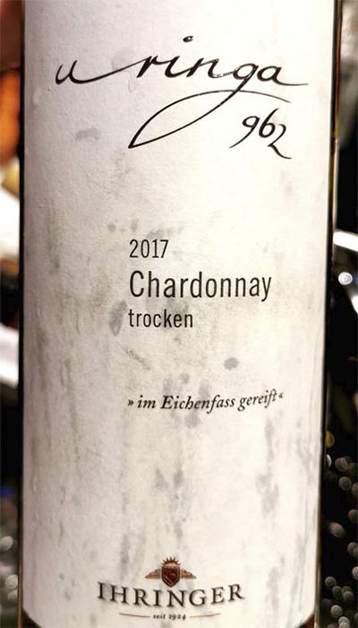 Ihringer Uringa 962 Chardonnay trocken 2017 белое вино отзыв