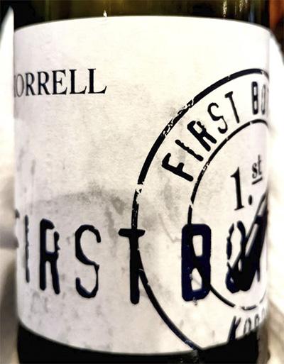 Korrell First Bottle trocken 2018 белое вино отзыв