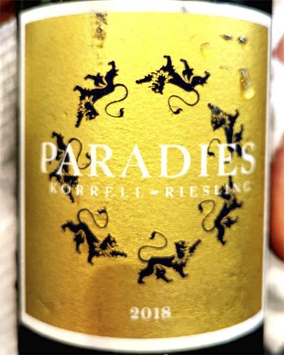 Korrell Paradies Riesling trocken Nahe 2018 белое вино отзыв
