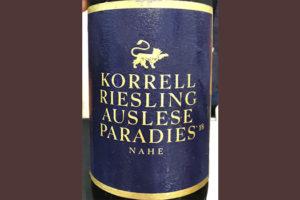 Korrell Riesling Auslese Paradies Nahe 2018 белое вино отзыв