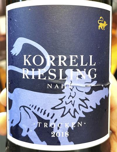Korrell Riesling trocken Nahe 2018 белое вино отзыв