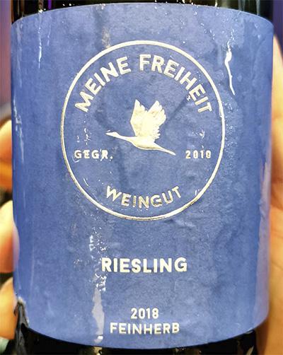 Meine Freiheit Riesling Feinherb 2018 белое вино отзыв