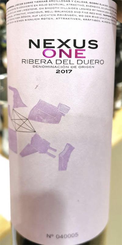 Отзыв о вине Nexus One Ribera del Duero cosecha 2017