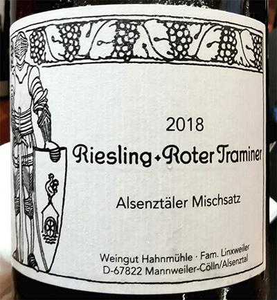 Riesling + Roter Traminer Alsenzataler Mischsatz feineherb 2018 белое вино отзыв