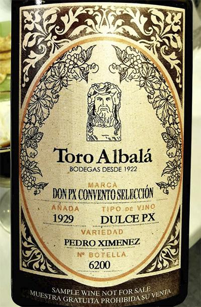 Отзыв о вине Toro Albala Don PX Convento Seleccion Pedro Ximenez dulce 1929