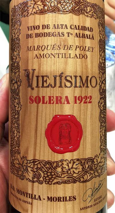 Отзыв о вине Toro Albala Marques de Poley Palo Viejisimo Amontillado 1922 solera