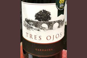 Отзыв о вине Tres Ojos Garnacha 2018