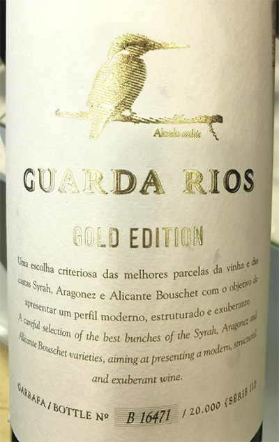 Отзыв о вине Vale d'Algares Guarda Rios Gold Edition Tinto 2018