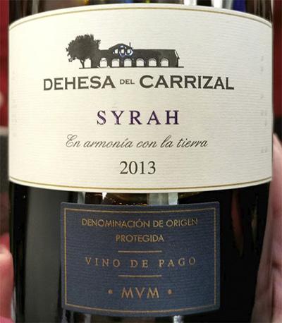 Dehesa del Carrizal Syrah Vino de Pago 2013 красное вино отзыв