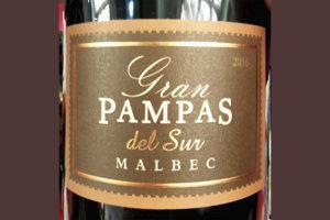 Gran Pampas del Sur Malbec 2016 красное вино отзыв